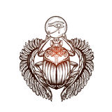 Tattoo Scarab 3 Stock Photography