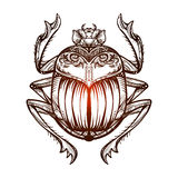Tattoo Scarab 2 Royalty Free Stock Photo