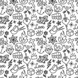 Tattoo seamless pattern Royalty Free Stock Images