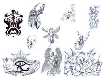Tattoo set II. Stock Image