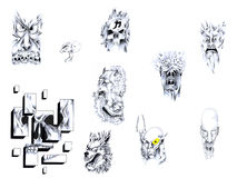 Tattoo set III. Stock Photo