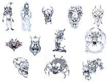 Tattoo set IV. Stock Photos