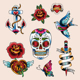 Tattoo set stock illustration
