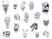 Tattoo set V. Stock Image