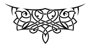 Tattoo shape in lace style. Lace style tattoo shape. A fusion of Maori and Celtic styles Stock Photography