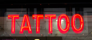 Tattoo Sign. Sign for a Tattoo Parlour Royalty Free Stock Photo