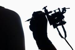 Tattoo silhouette Stock Photo
