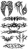 Tattoo silhouette collection Royalty Free Stock Photo