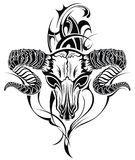 Tattoo skull goat Royalty Free Stock Images