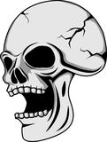 Tattoo Skull. Vector illustration of a skull Royalty Free Stock Photo