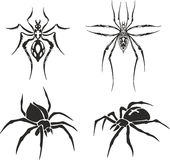 Tattoo of spiders Stock Photography