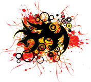 Tattoo Splatter. Completly abstract vector illustration designed anywhere Royalty Free Stock Photo