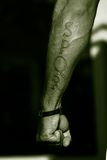 Tattoo SPQR Arm Gladiator Royalty Free Stock Image