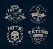 Tattoo Studio Emblems Stock Image