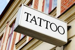 Tattoo studio Royalty Free Stock Images