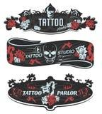 Tattoo Studio Horizontal Banners Royalty Free Stock Photo