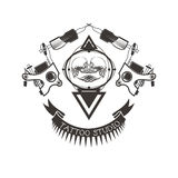 Tattoo studio logo, emblem Stock Images