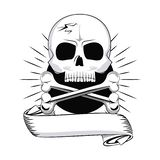 Tattoo studio old school black and white. Tattoo studio old school drawings emblem vector illustration graphic design royalty free illustration