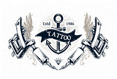 Tattoo Studio Poster vector illustration