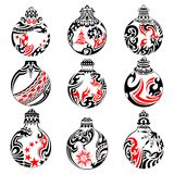 Tattoo Style Christmas Ball Stock Images
