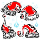 Tattoo Style Christmas Cap Royalty Free Stock Photography