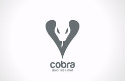 Tattoo style icon. Cobra silhouette vector logo de Royalty Free Stock Image