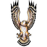 Osprey Swooping Front Tattoo. Tattoo style illustration of an osprey, Pandion haliaetus also called fish eagle, sea hawk, river hawk, and fish hawk, a diurnal Stock Image
