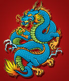Coiled Chinese Dragon Stock Photo