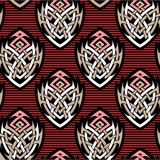 Tattoo style seamless pattern Stock Photography