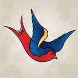 Tattoo style swallow, old school Royalty Free Stock Images