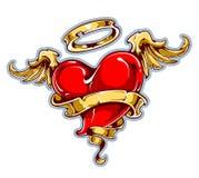 Tattoo styled heart stock illustration
