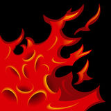 Tattoo-stylized flame tongues. Vector Illustration Royalty Free Stock Photo