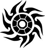 Tattoo sun Royalty Free Stock Image
