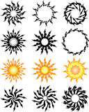 Tattoo Sun Stock Image