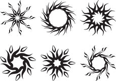 Tattoo Sun Royalty Free Stock Photo