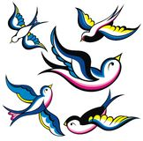 Tattoo swallows Royalty Free Stock Images