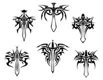 Tattoo with swords and daggers Royalty Free Stock Photography