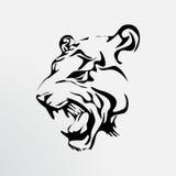Tattoo of a tiger. Wild animal Royalty Free Stock Photos
