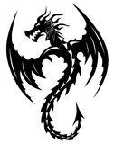 Tattoo tribal dragon. Royalty Free Stock Photography