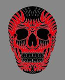 Tattoo tribal mexican skull vector art Stock Images