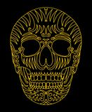 Tattoo tribal mexican skull vector art Royalty Free Stock Photography