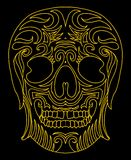 Tattoo tribal mexican skull vector art Stock Photos
