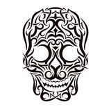 Tattoo tribal skull. Vector design element Royalty Free Stock Photos