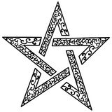 Tattoo tribal star vector. Isolated sketch star Royalty Free Stock Photo
