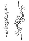 Tattoo, tribal, stars Royalty Free Stock Photography