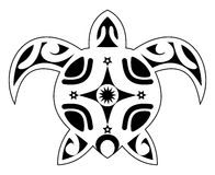 Tattoo of a turtle, tribal polynesian Royalty Free Stock Photo