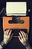 Tattoo Typewriter Machine Letter Journalism Concept Royalty Free Stock Photography
