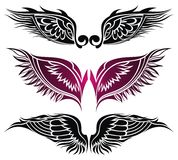 Tattoo wings. Elements for design. Royalty Free Stock Image