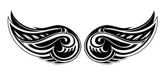 Tattoo wings shape Royalty Free Stock Photo