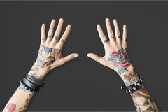 Tattoo Woman Style Glamour Alternative Lifestyle Concept Royalty Free Stock Images